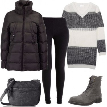 Outfit Maxi maglione
