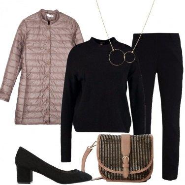Outfit La giacca trapuntata marrone