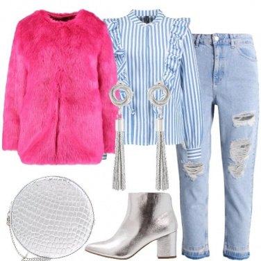 Outfit Fucsia e silver