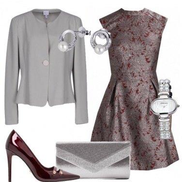Outfit Argento e bordeaux