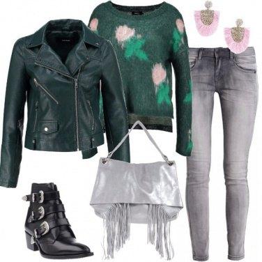 Outfit Borsa d\'argento laminato
