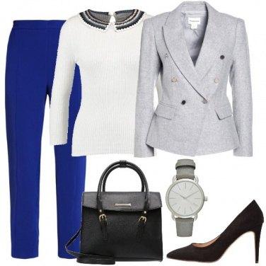 Outfit Pantaloni blu elettrico