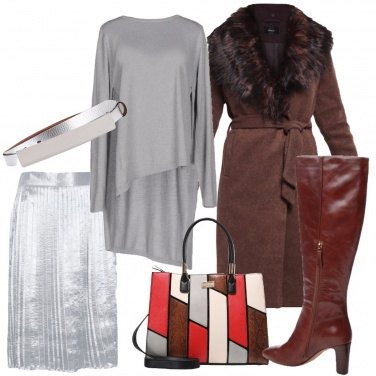 Outfit Laminato argento