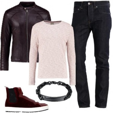 Outfit Pelle e velluto