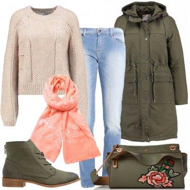 Outfit Parka e jeans
