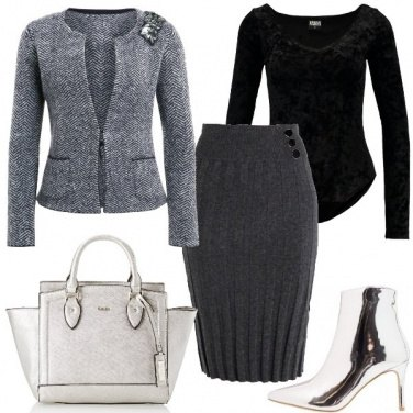 Outfit Stivaletto silver