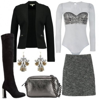 Outfit Dettagli argentati