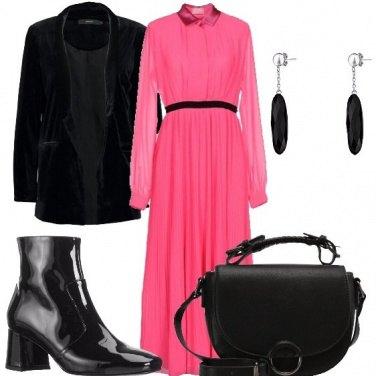 Outfit Una pennellata rosa