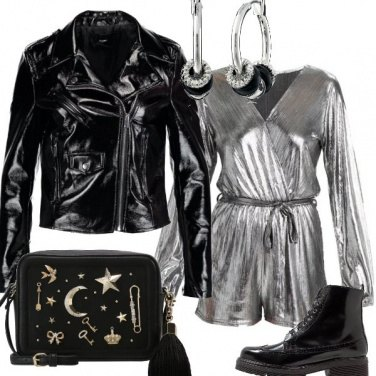 Outfit Disco in argento