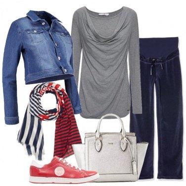 Outfit Una pratica giacca in jeans