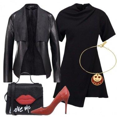 Outfit Il vestito corto nero