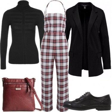 Outfit La jumpsuit a quadretti