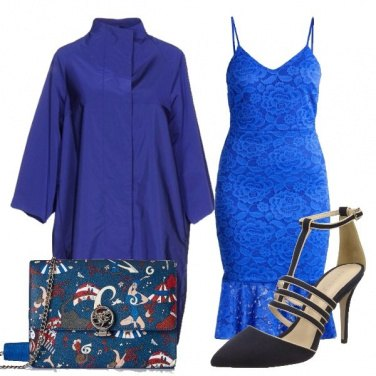 Outfit In pizzo blu