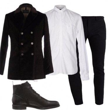 Outfit Una giacca doppiopetto in velluto