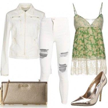 Outfit Oro bianco e fiori