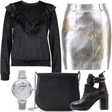 Outfit Riflessi metallici