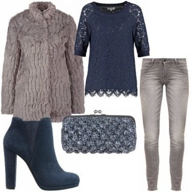 Outfit Grey & blue