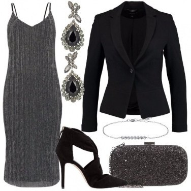 Outfit L\'abito laminato silver