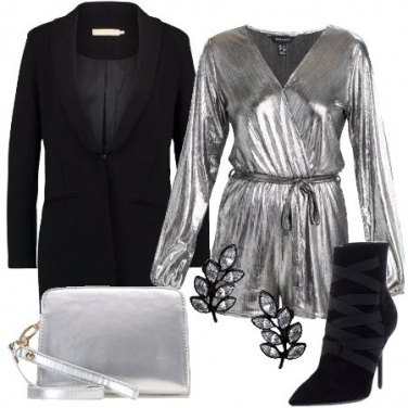 Outfit La tuta silver