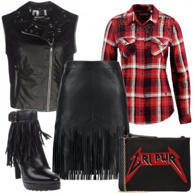 Outfit Frange rock