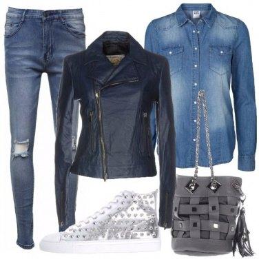 Outfit Denim e laminato