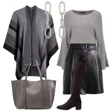 Outfit Grigio e nero a blocchi di colore