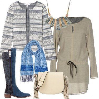 Outfit La giacca in fantasia etnica