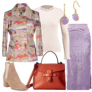 Outfit La gonna in velvet lavanda