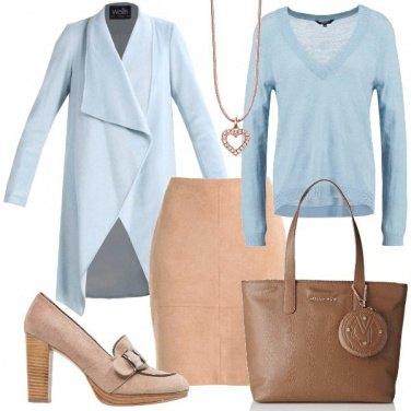 Outfit Sabbia e celeste
