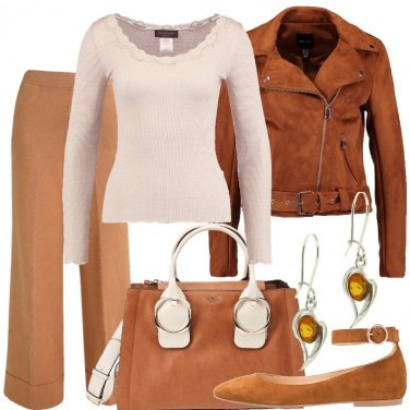 Outfit Panna e cognac