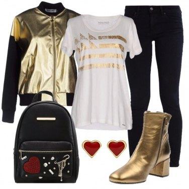 Outfit Effetto satinato