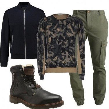 Outfit Maglione camouflage