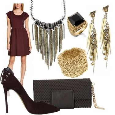 Outfit Rock Marsala