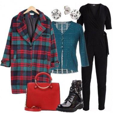 Outfit Il cappotto in fantasia scozzese