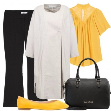Outfit Signora in giallo