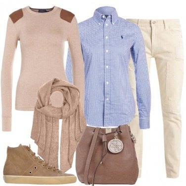 Outfit Il jeans crema
