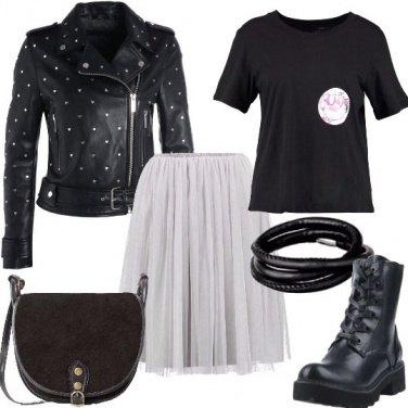 Outfit Rock con la gonna