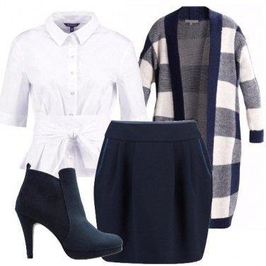 Outfit A quadri blu