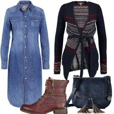 Outfit Abito denim