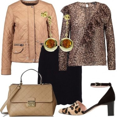 Outfit Una blusa animalier