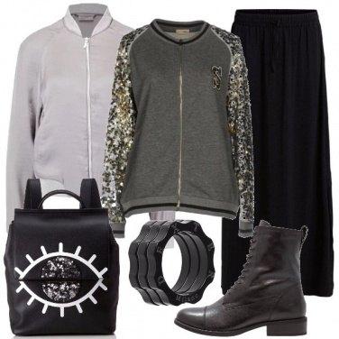 Outfit Paillettes anche se urban