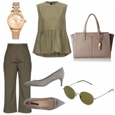 Come abbinare il blusa collo tondo verde opaco: 94 Outfit