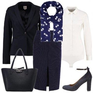Outfit Foglie e righe