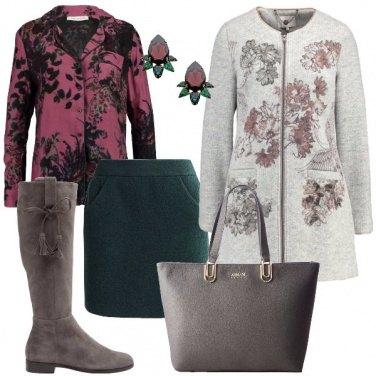 Outfit Il cappotto con stampa floreale
