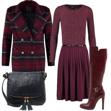 Outfit Bordeaux retrò