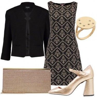Outfit In nero e oro