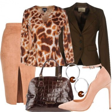 Outfit Pesca e marrone
