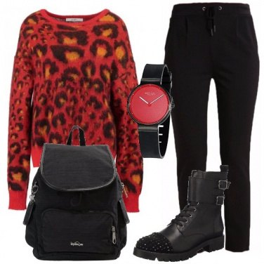 Outfit Maglione animalier