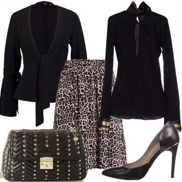 Outfit Leopardato chic