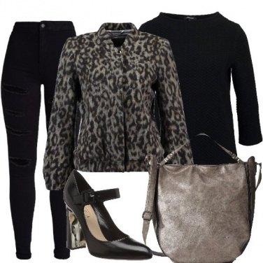 Outfit Cappottino leopardato